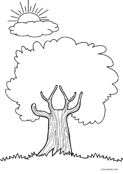 printable tree coloring pages  kids