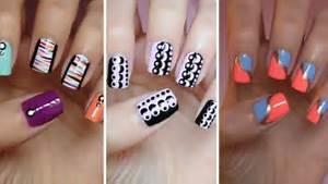 Paint simple nail art manicures step by diy tutorial instructions