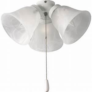Progress lighting airpro light white ceiling fan