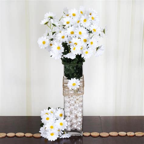 silk daisies wedding party bouquets flowers artificial