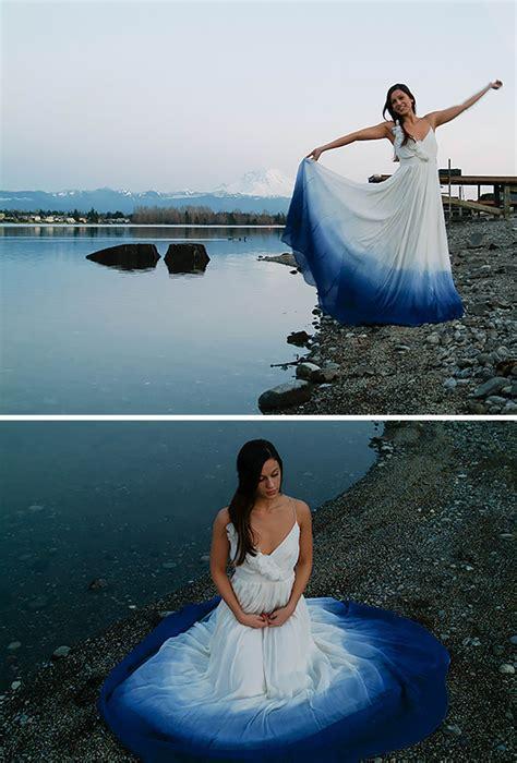 dip dye wedding dress trend    big day