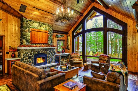 cottage style living room a cabin up