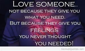 Top 50 feeling ... Love Feeling Quotes