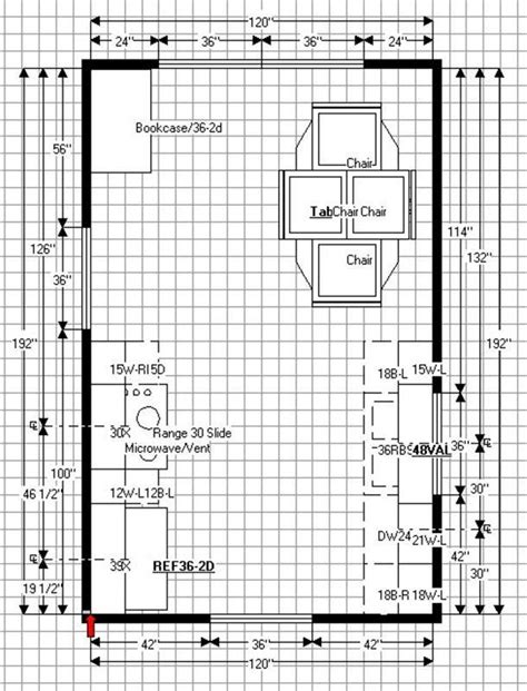 Medium Kitchen Floor Plans Dining Table With Chairs