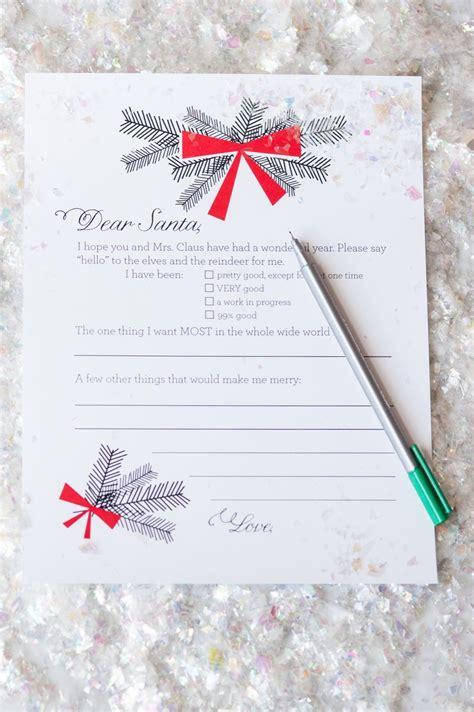 dear santa christmas  list printables  sweetest