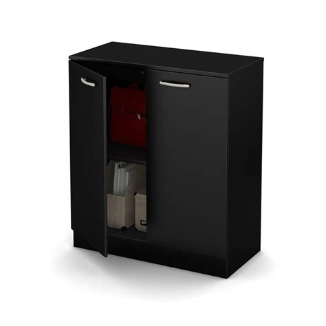 south shore cabinets south shore axess 31 5 quot storage cabinet in black 10179 2404