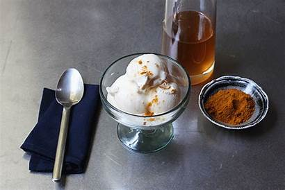 Cream Syrup Ice Vanilla Ginger Powder Curry