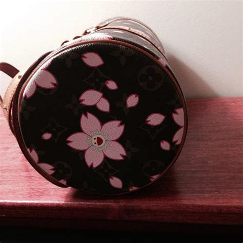 louis vuitton murakami brown pink flowers   tradesy