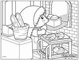 Coloring Bread Sylvanian Critters Croissant Calico Families Printable Cooking Colouring Coloriage Coloriages Dessin Animaux Bebes Modeler Lapins Tete Colorier Ligne sketch template