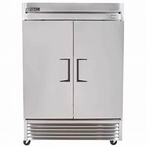 True Two Section Solid Door Reach In Refrigerator 49