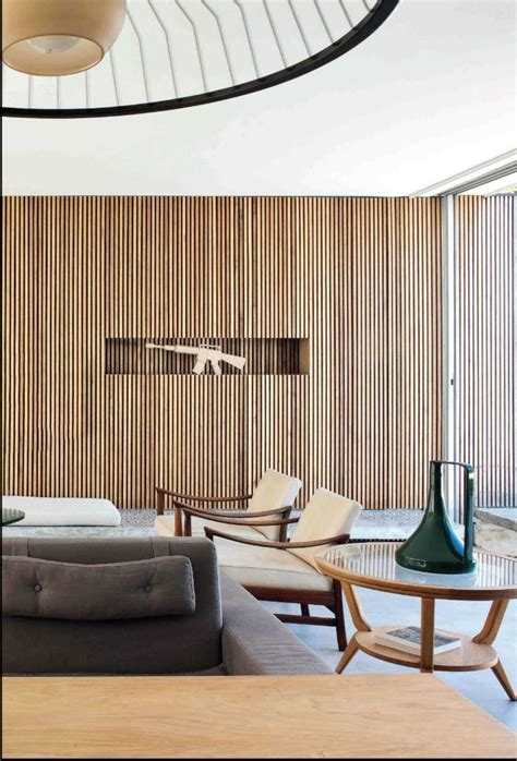 Bauhaus Style Home With Interior Glass Walls by Best 25 Timber Wall Panels Ideas On Wall