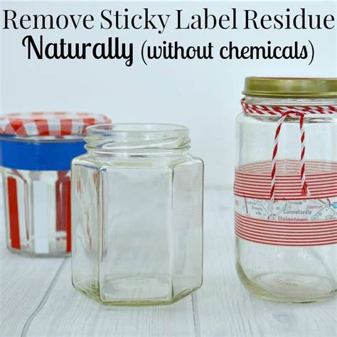 how to get sticker residue plastic remove sticky label residue naturally organized 31