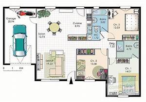 maison econome en energie detail du plan de maison With plan maison en l 100m2 3 maison moderne et economique detail du plan de maison