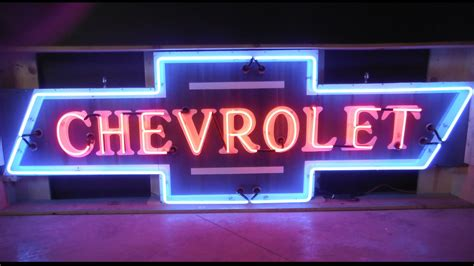 Chevrolet Bowtie Neon Sign Sspn 3ftx9ft