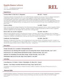 Resume For Journalist by Rosella Eleanor Lafevre Journalist And Fiction Writer