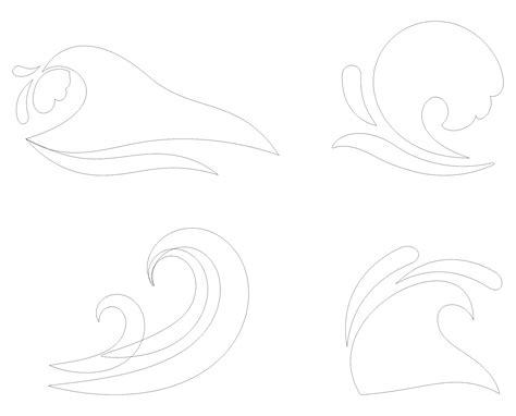 printable wave stencil printableecom