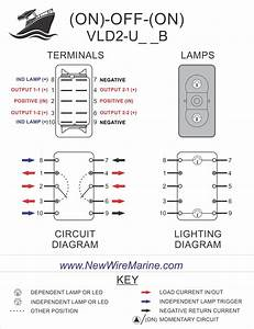 Windlass Illuminated Rocker Switch