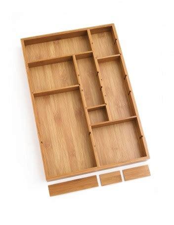 bamboo adjustable drawer organizer lipper international