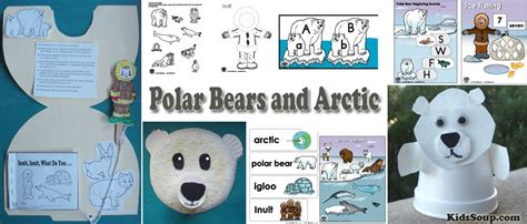 polar activities crafts lessons and printables 830 | Polar bear actic activities