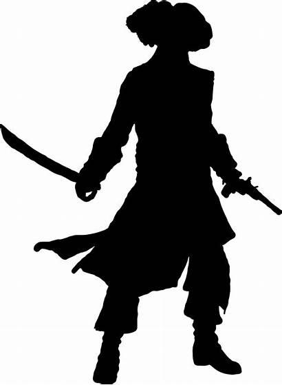 Pirate Silhouette Clip Clipart Sword Shadow Captain