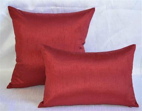 Silk Decorative Pillows by Artofabric Dupioni Faux Silk Decorative Pillow Throw