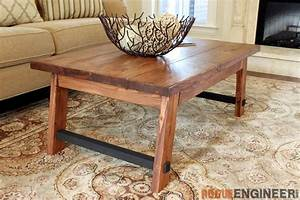 Angled Leg Coffee Table { Free DIY Plans } Rogue Engineer