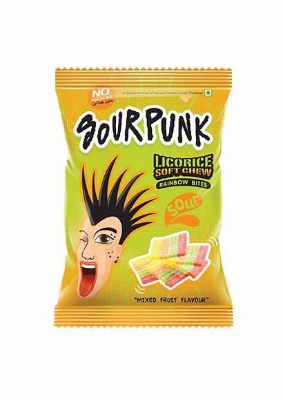 Sour Punk Rainbow Mixed Flavour Bite Licorice