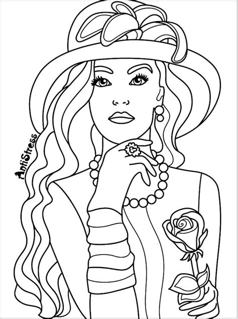 coloring page  adults beautiful women coloring pages