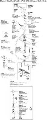 delta kitchen faucet parts diagram plumbingwarehouse com delta kitchen faucet parts for models 473 473 sd