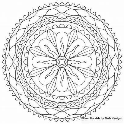 Coloring Pages Mandala Flower Adult Unique Spring