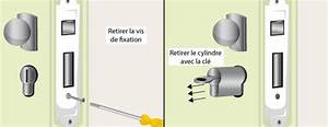 comment changer un cylindre de serrure With demonter un barillet de porte