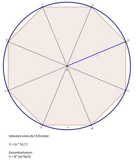 berechnen sie den flaecheninhalt eines regulaeren achtecks