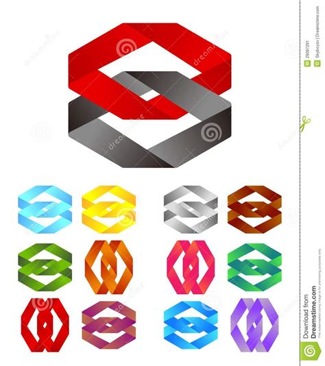 infinite cross ribbon vector design logo stock vector image 29087291