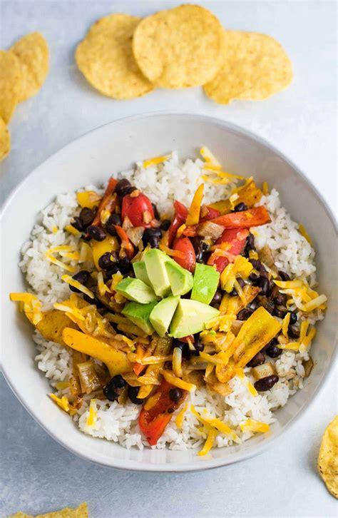 easy vegetarian burrito bowl recipe build  bite