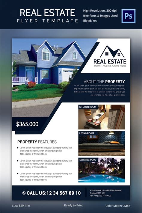 Buy Brochure Templates Real Estate Flyer Template Free Psd