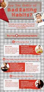 The eight worst eating habits include eating lunch at your ...