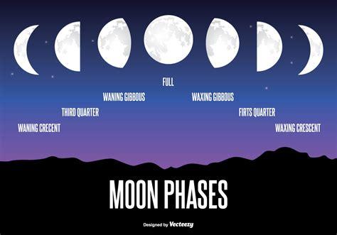 moon phase illustration   vector art stock