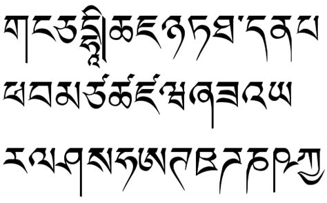 tibetan language fonts