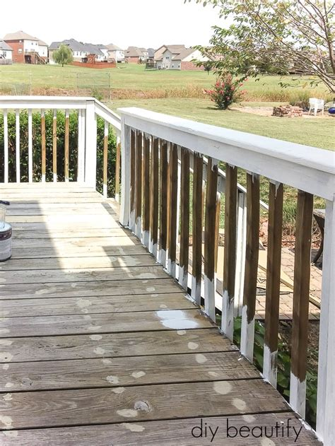 update  deck  paint diy beautify