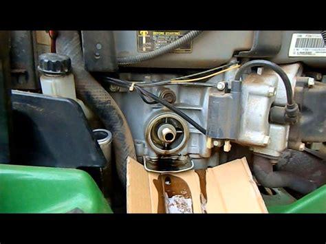 how to garden tractor change deere 345