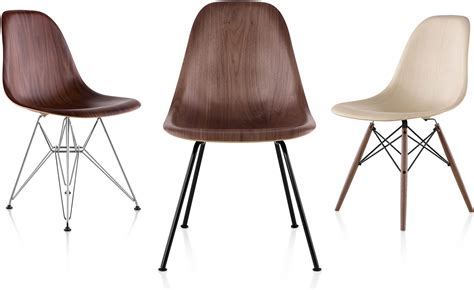 eames 174 molded wood side chair with 4 leg base hivemodern