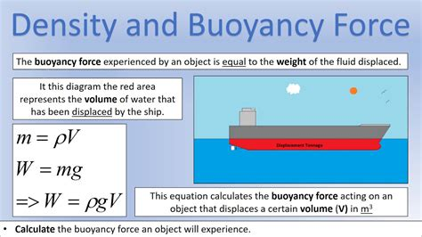 why ship floats on water and doesn t sink gcse physics all exam boards motion density and