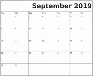 Sept 2020 Calendar Printable September 2019 Free Printable Calendar