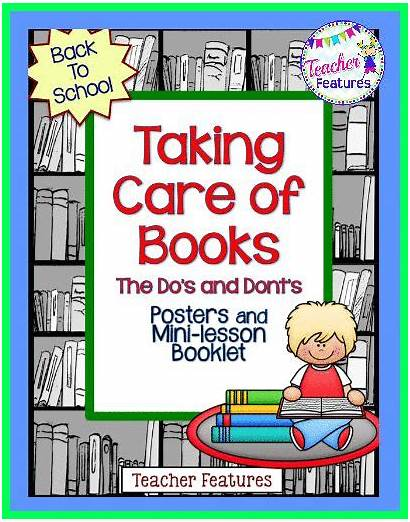 Care Library Rules Books Skills Classroom Posters
