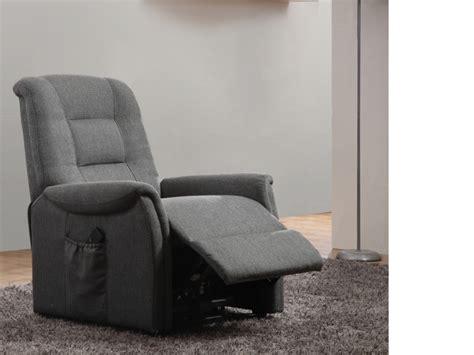 canapé tissu gris anthracite fauteuil releveur électrique en tissu 2 coloris nerudo