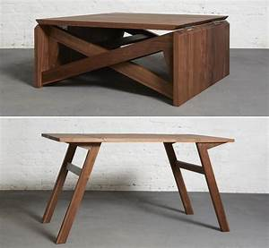 Furniture: Coffee Table Converts To Dining Table