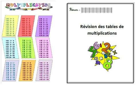 revision table de multiplication ce2 tables de multiplications cycle 3 journal d une pe ordinaire