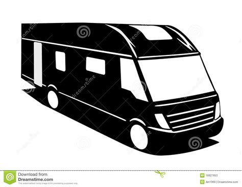 motorhome clipart black and white motorhome stock illustration image of recreation motor