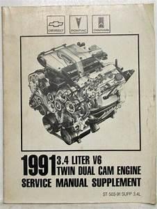 1991 Chevrolet Pontiac Olds 3 4 Liter V6 Twin Dual Cam