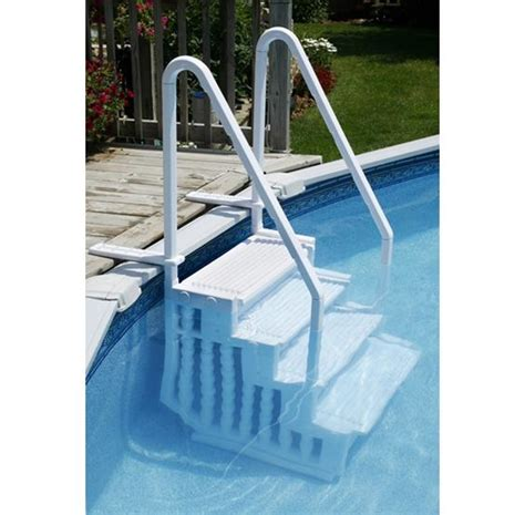 Above Ground Pool Ladders For Decks by Easy Pool Step For Above Ground Pools Pc Pools
